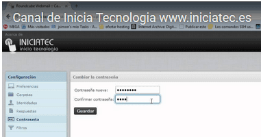 cambia pass webmail